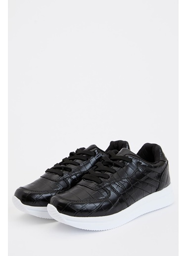 DeFacto Bağcıklı Sneaker Ayakkabı Siyah
